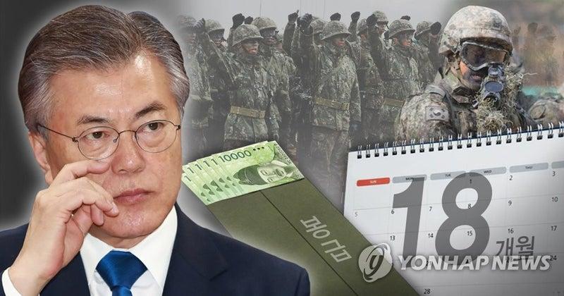 韓国兵役]軍服務期間18ヶ月に短...