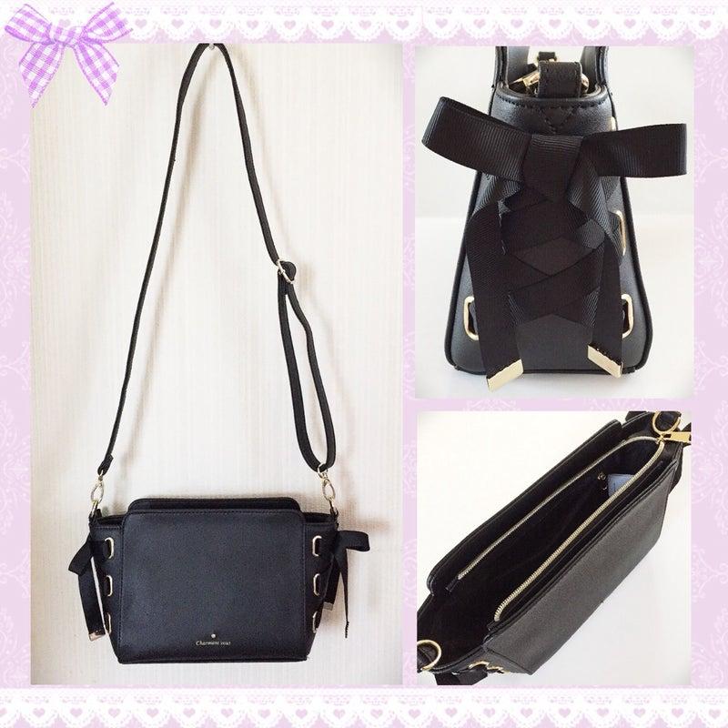 b24b890e3c9e しまむら購入品♡リボンレースアップショルダーバッグ♡大人可愛いバッグ ...