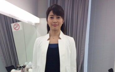 テレビ朝日久保田直子アナウンサーに衣装提供しました