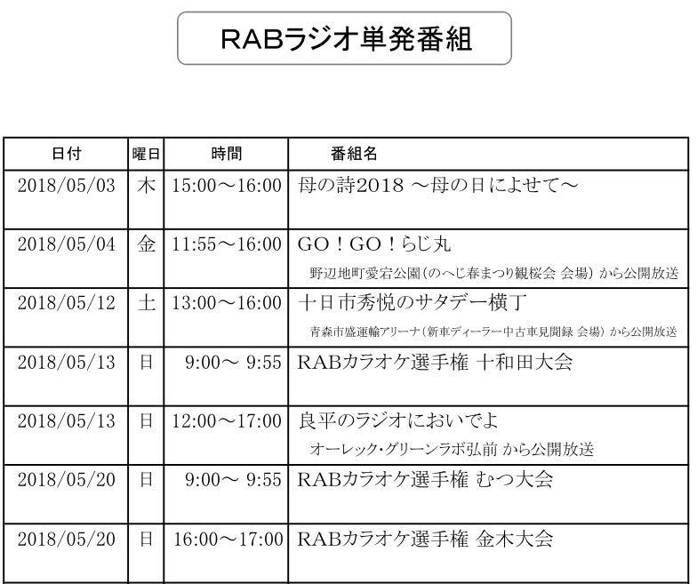 RAB杯カラオケ選手権大会