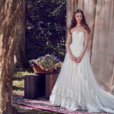 インポートウェディングドレス2019春夏婚  Aライン ウェディングドレスの記事に添付されている画像