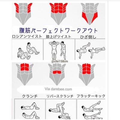 腹筋部位別筋トレ♡の記事に添付されている画像