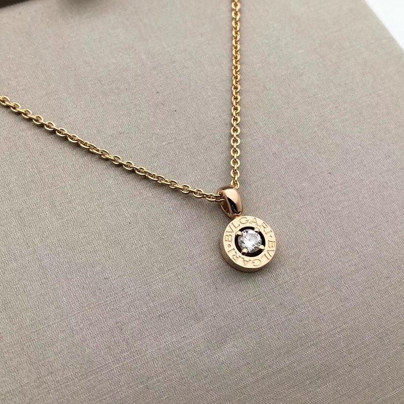 782941efec64 We purchased a BVLGARI BVLGARI. Ref. 340017 CL853337 18KPG 0.25ct diamond  necklace from a customer. ちなみに、当店のブルガリ製品の買取 ...
