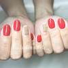 Red × ball chain nailの画像