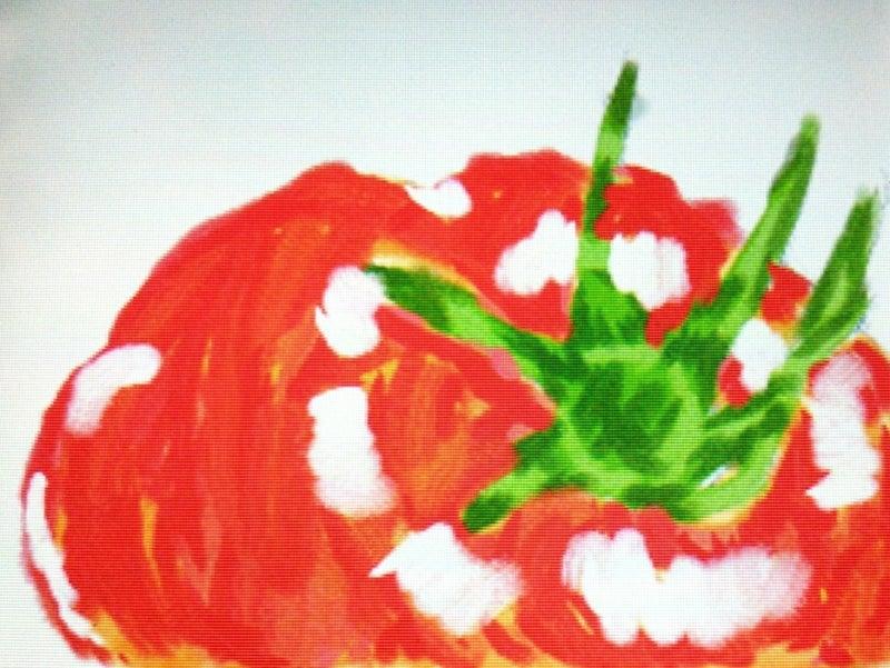 トマトといちごタルトのイラスト 恐竜使いの少年