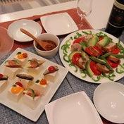★ 鶏ロールのアボカドサラダ&カナッペやっこ