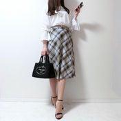 【GU】一目惚れして正解♡休日・通勤で大活躍中のチェックスカート♡