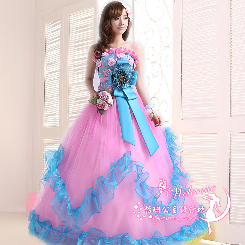1f5e4f650e3e0 結婚式・写真撮り・海外挙式などに!!格安ウェディングカラードレスを ...