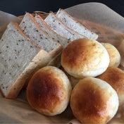 【昨日焼いたパンで朝ごはん!^^】