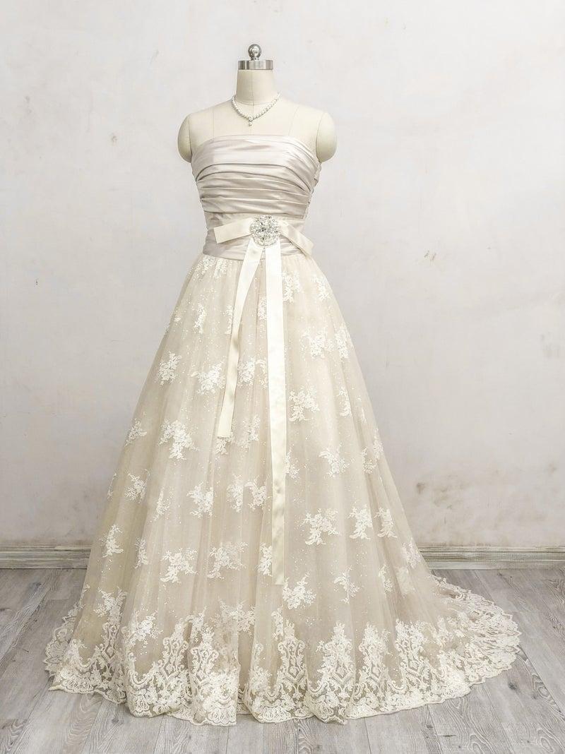 b794cf15c2bc6 カラードレスラグジュアリーなゴールドカラーのドレス