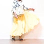 【ユニクロ】990円!優秀ボーダーTと3色買いしたマキシスカートでご近所コーデ♪