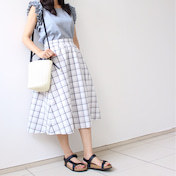 【GUは着回し抜群!】透明感あるスカートで初夏コーデ♡