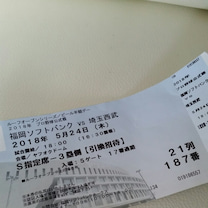福岡ソフトバンク野球観戦の記事に添付されている画像