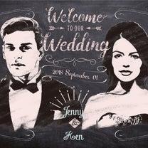 #ウェルカムボードおしゃれ ご結婚されるご友人へのプレゼントの記事に添付されている画像