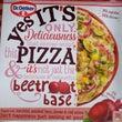ビーツ入りの赤いピザ