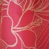 新作☆ピンクに心ふわり、ハイビスカス柄のイージーリボンドレス EB-019の画像