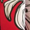 新作☆目新しい印象の赤地に白のモンステラ柄のイージーリボンドレス EB-018の画像