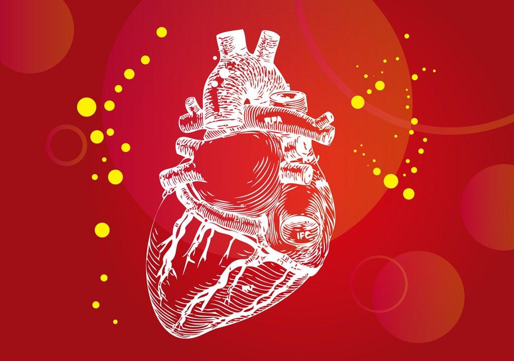 人生】 かっこいい 心臓 イラスト フリー