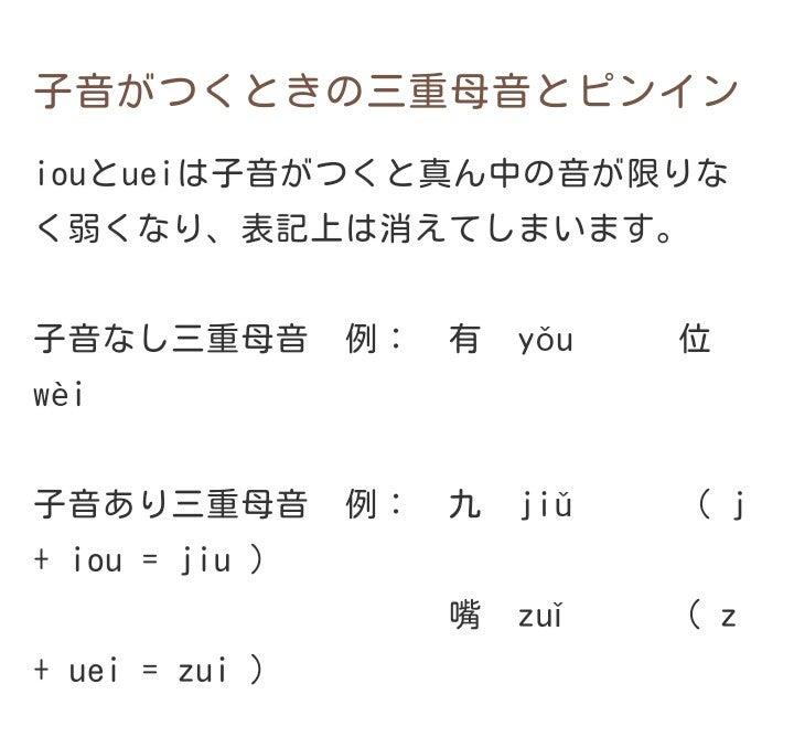 中国語入門 複母音   kyontaの毎日楽しく過ごす為のブログ