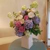 ネイルサロン 紫陽花フラワーアレンジメントの画像