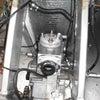 NX4-CR85に、ストレートマニホールドに自作のリードバルブに入れる吸入ガイド?を作っての画像