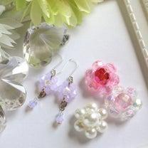 ビーズで簡単♪お花モチーフの編み方♪の記事に添付されている画像
