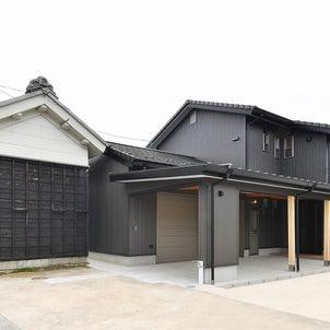 外観を敷地内にある蔵と調和させた住宅、地元大工さんとのコラボ作品です。の画像