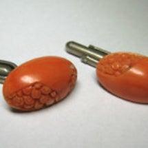 珊瑚のイヤリング
