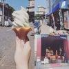 今日のお昼のデザート【温泉市場のソフトクリーム】の画像