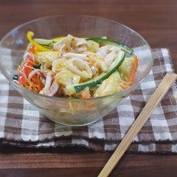 画像 焼豚とたっぷり野菜の胡麻ドレつゆかけ冷やし中華 の記事より 20つ目