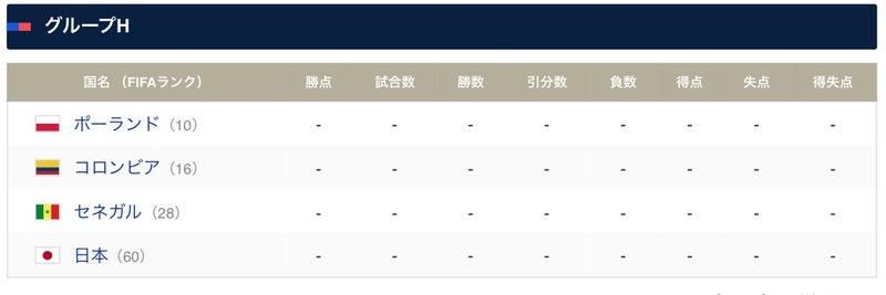 ワールドカップ グループH | 海...