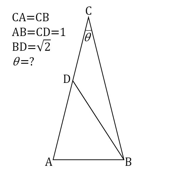 二等辺三角形の頂角の角度を求めよ -解答編その2-   円周率近似値の日 ...