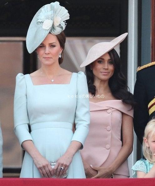 英国王室キャサリン妃 メーガン妃 ファッション2018年エリザベス女王92歳公式誕生日パレード