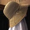 麦わら帽子とフレンチリネンとコットンとの画像