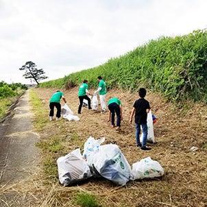 塗装協会青年部で河原のゴミ拾いを行いました!の画像
