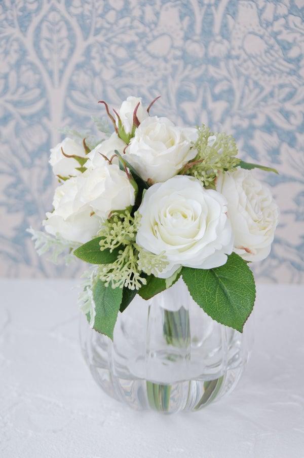 アコールローズ パンプキンボールベース 造花 人工水 マジカルウォーター 花束 小さい