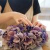 素敵な紫陽花リースが出来上がりましたの画像