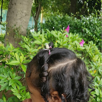 黒人の髪、アジア人の髪、その中間の髪の記事に添付されている画像