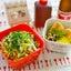 冷やしたぬき蕎麦&お稲荷さんde塾弁当。