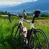 南アルプスを眺めつつサイクリングの画像