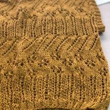 きのうは編み物基礎教…