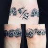 刺青★スカルブレス(腕)ブラックアンドグレー!の画像