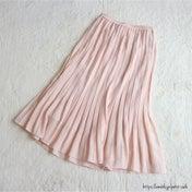 【ユニパト】女性らしいシルエット♡軽やかなシフォンのプリーツスカート