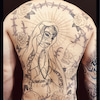 刺青★シュガースカルメイクマリア(背中)筋彫り!の画像