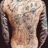 刺青★地獄太夫(バックピース)筋彫り!の画像