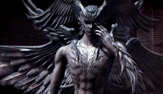 大天使ミカエルと堕天使ルシファ...