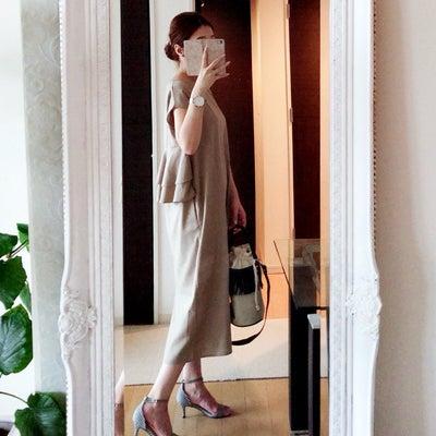 リネン混バックフリルワンピース♡の記事に添付されている画像