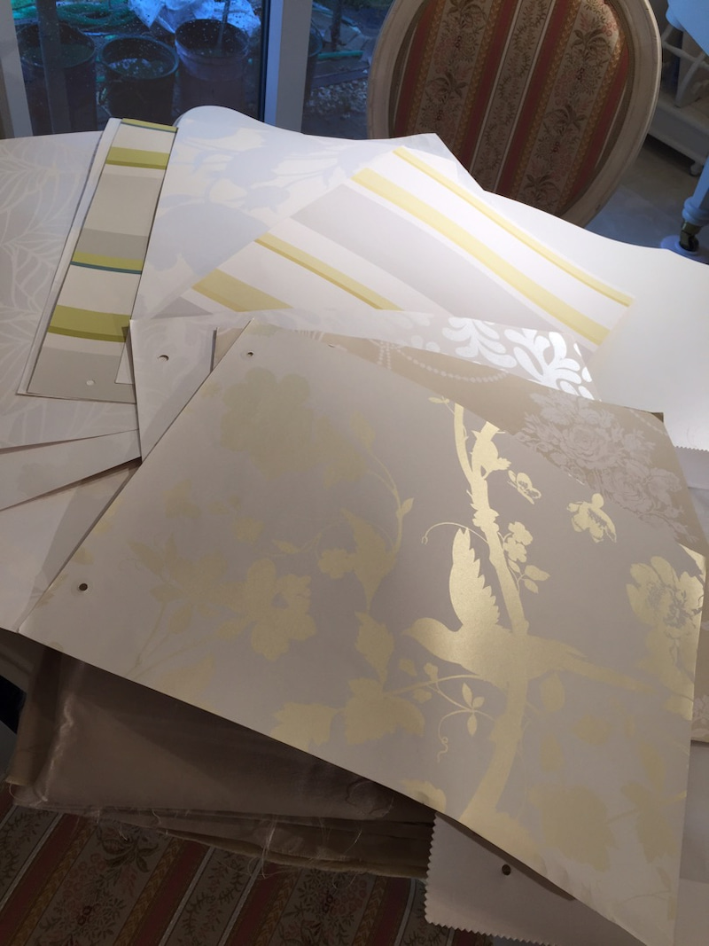 ローラアシュレイの壁紙でコースターとランチョンマットを作りました