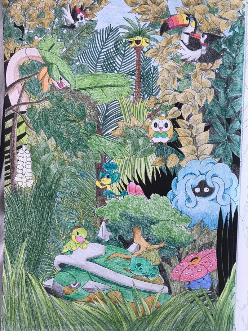 プレミアムキャラ塗り絵150 ポケモン名画 クーピーのブログ