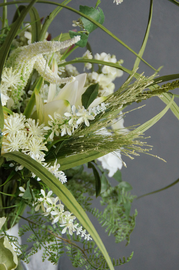 穂本物そっくりの造花 アーティフィシャル 花束 贈答品 オフィス